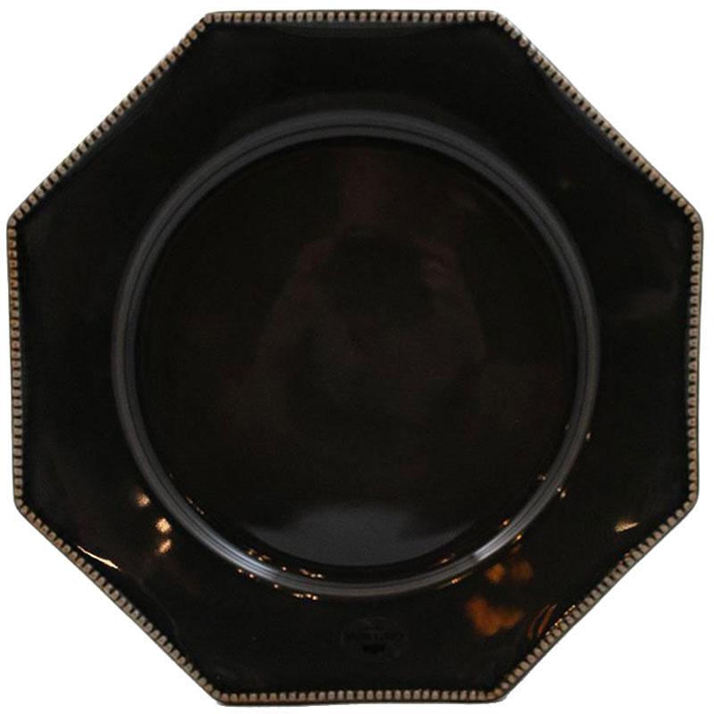 Тарелка обеденная Costa Nova Luzia темно-серая 30см