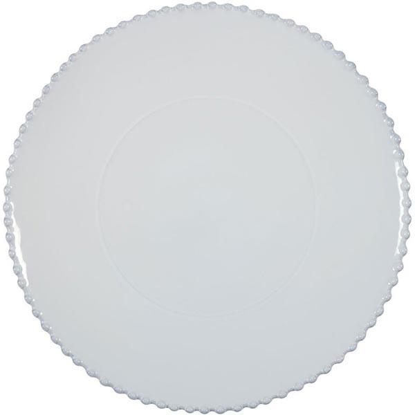 Блюдо для нарезки Costa Nova белое Pearl 33см