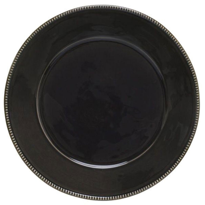 Темно-серая тарелка Costa Nova Luzia 34см
