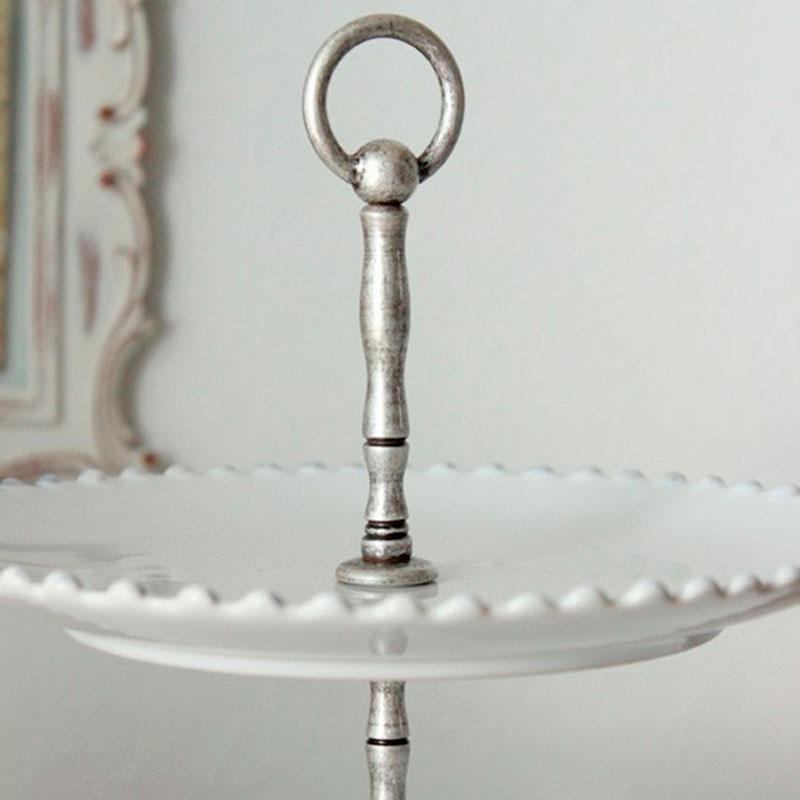 Фруктовница трехъярусная Costa Nova Pearl 33см белого цвета