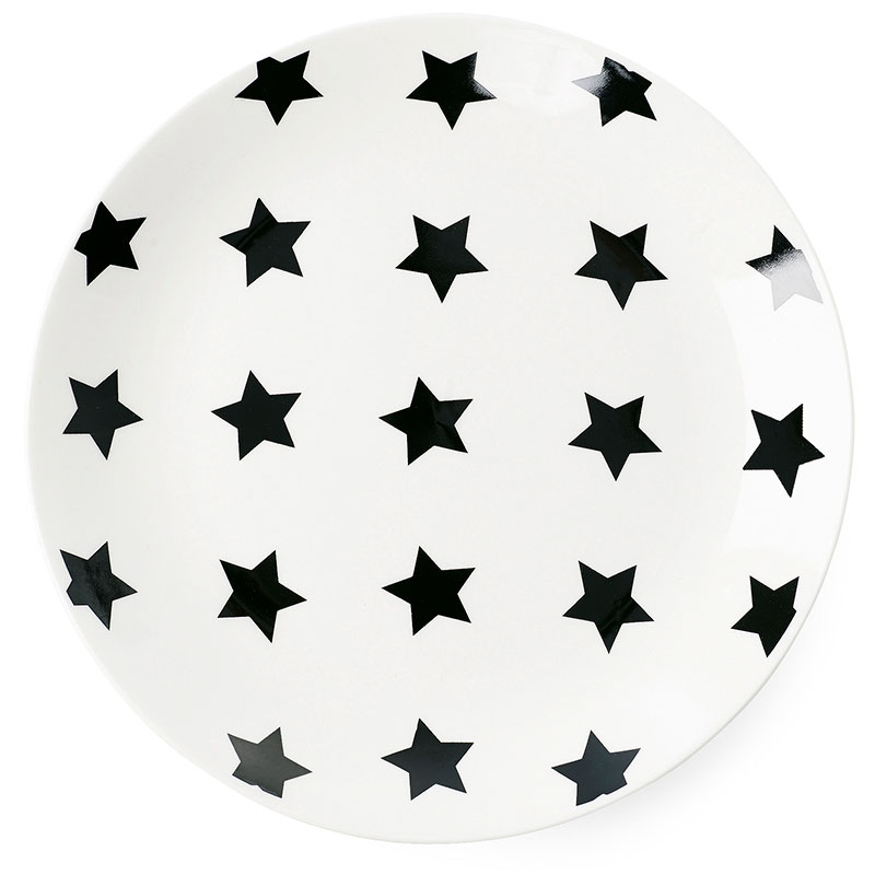 Тарелка Miss Etoile с черными звездами 17см