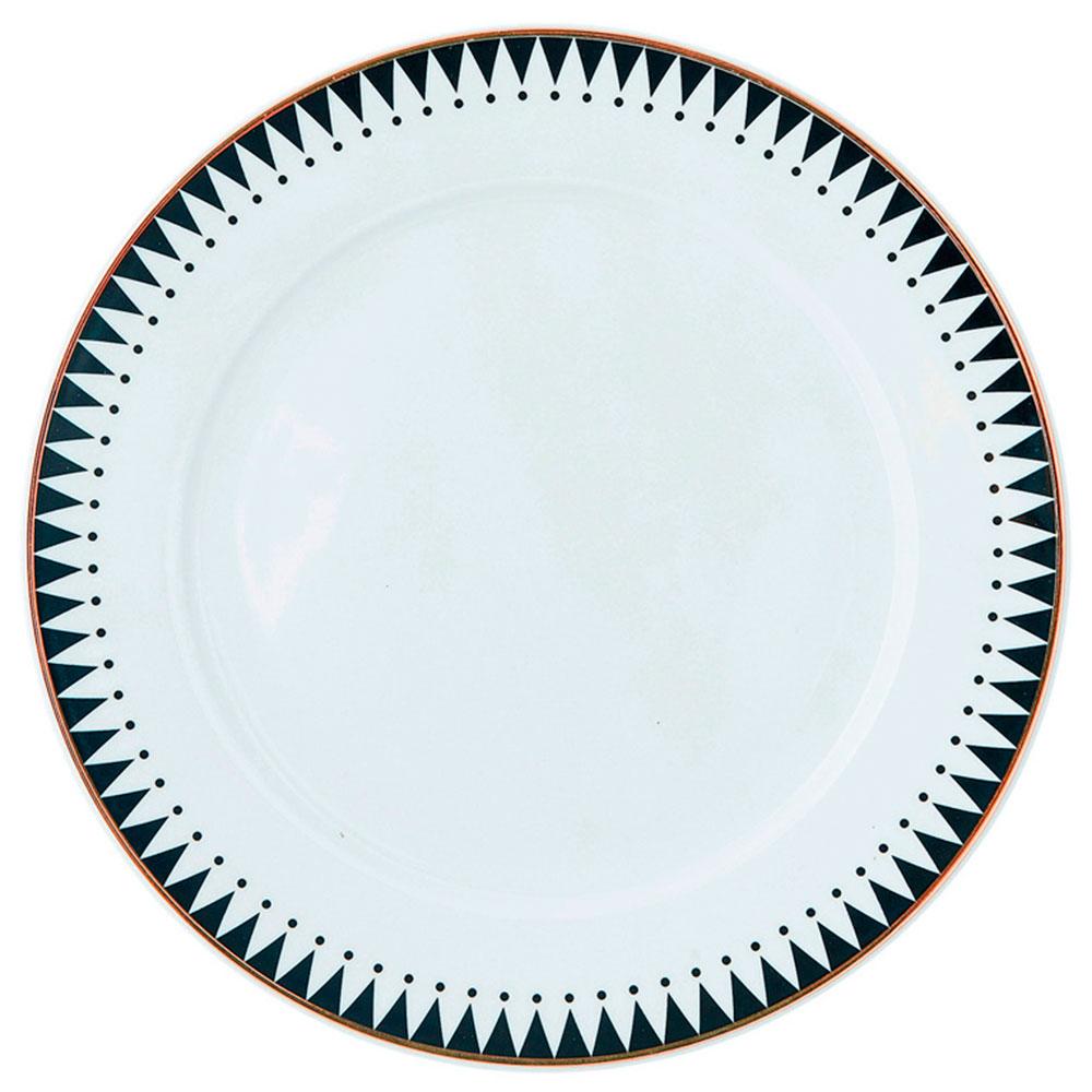 Тарелка Miss Etoile с черным принтом-кантом