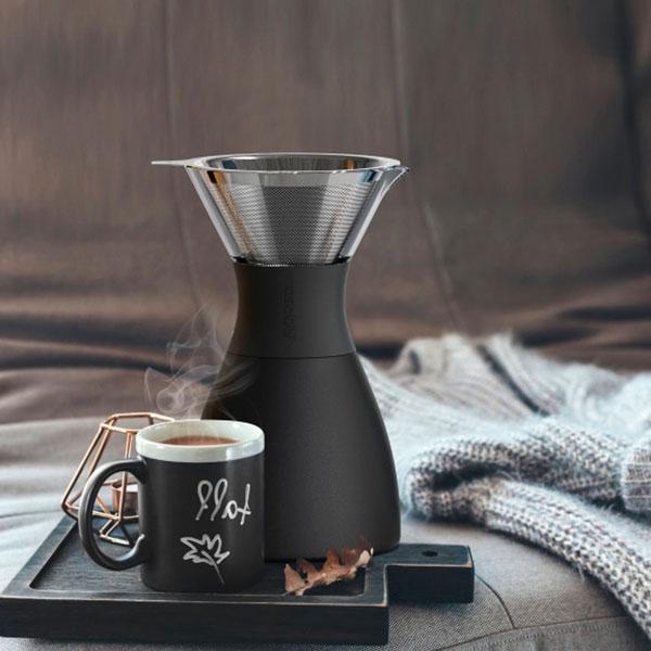 Кофеварка Asobu Pour Over в черном цвете