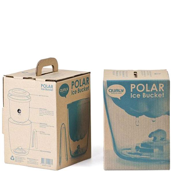 Белое ведро для льда Qualy Polar Ice Bucket