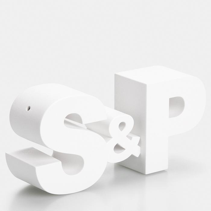 Набор для соли и перца Qualy S&P белый