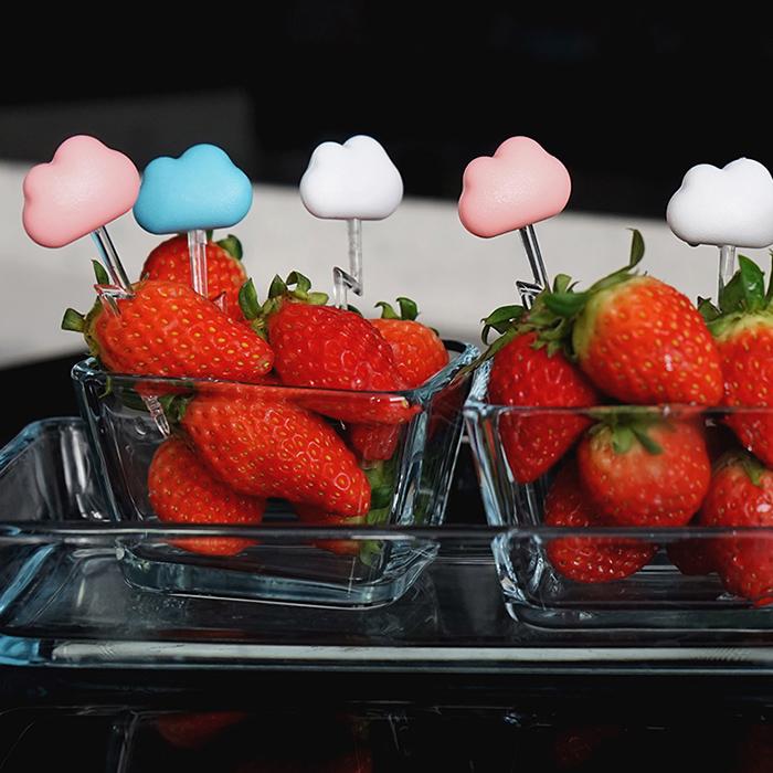 Шпажки для закусок и канапе Qualy Cloud в виде облаков