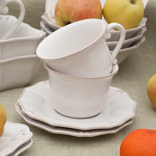 Белая чашка с блюдцем Costa Nova Barroco 220мл
