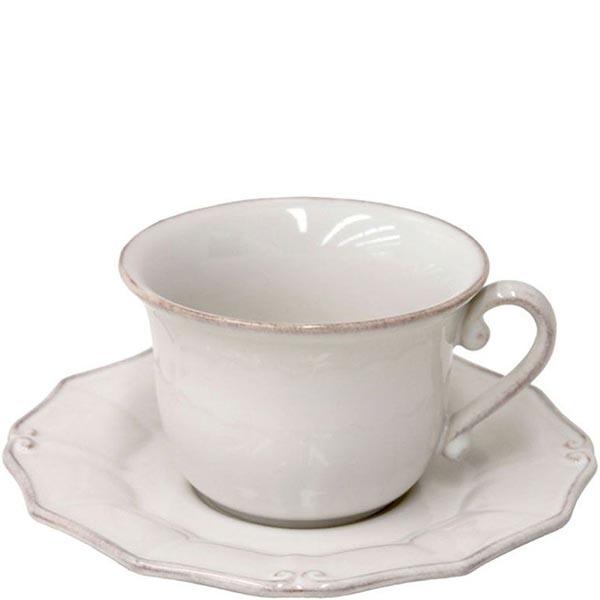 Набор из 6 чашек с блюдцами Costa Nova Barroco белый