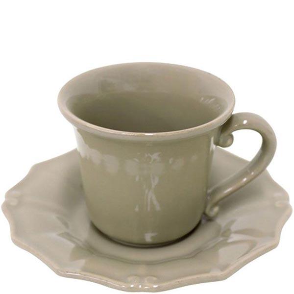Чашка для кофе с блюдцем Costa Nova Barroco коричневая 120мл