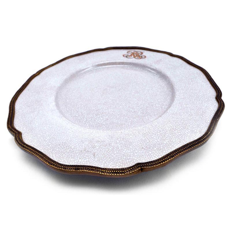 Тарелка подставная Royal Family с бронзовой каймой