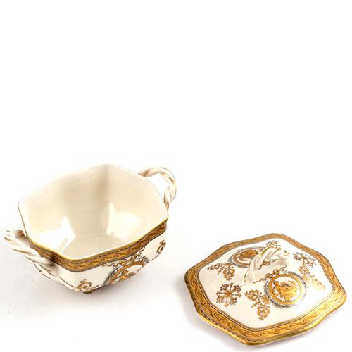 Сахарница Royal Family Oro Antico керамическая с позолотой