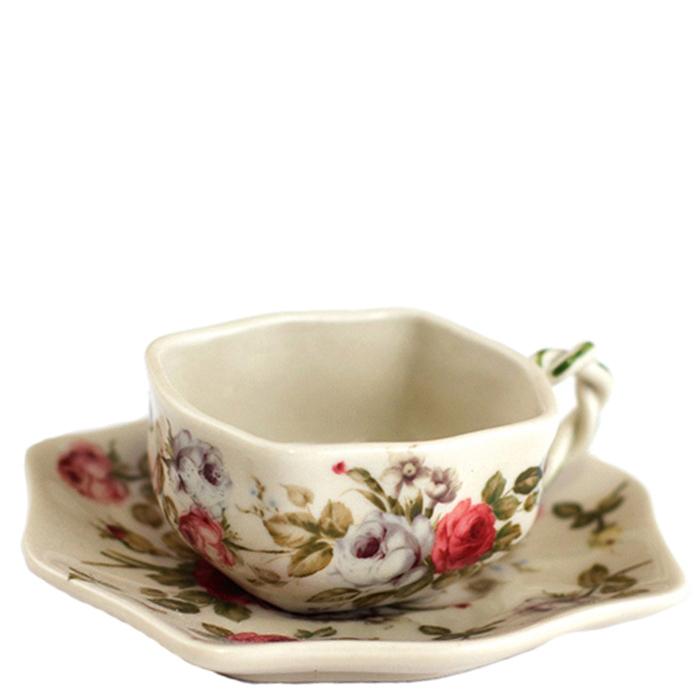 Чашка с блюдцем Royal Family Sweet England Прованс