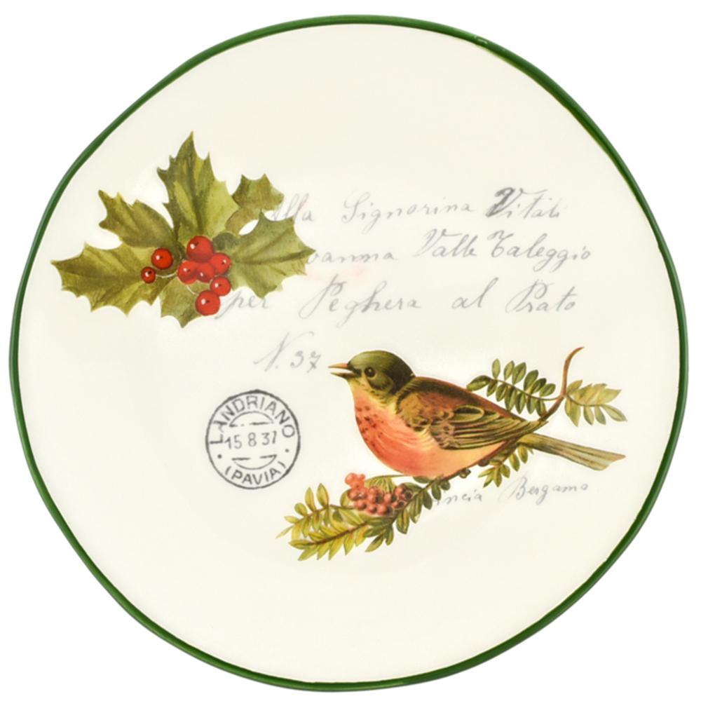 Набор тарелок для салата Villa Grazia Рождественская трель на 6 персон