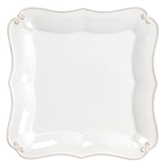 Тарелка обеденная Costa Nova Barroco белого цвета 27х27см