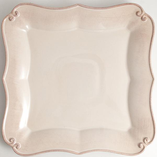 Белая обеденная тарелка Costa Nova Barroco 27х27см