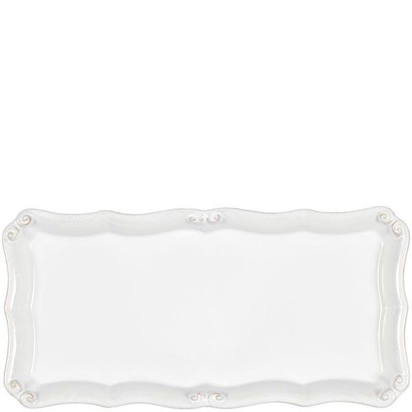 Блюдо прямоугольное Costa Nova Barroco 30х15см белое