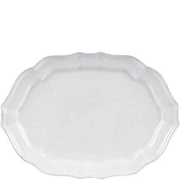 Блюдо овальное Costa Nova Impressions белое 35х28см белое