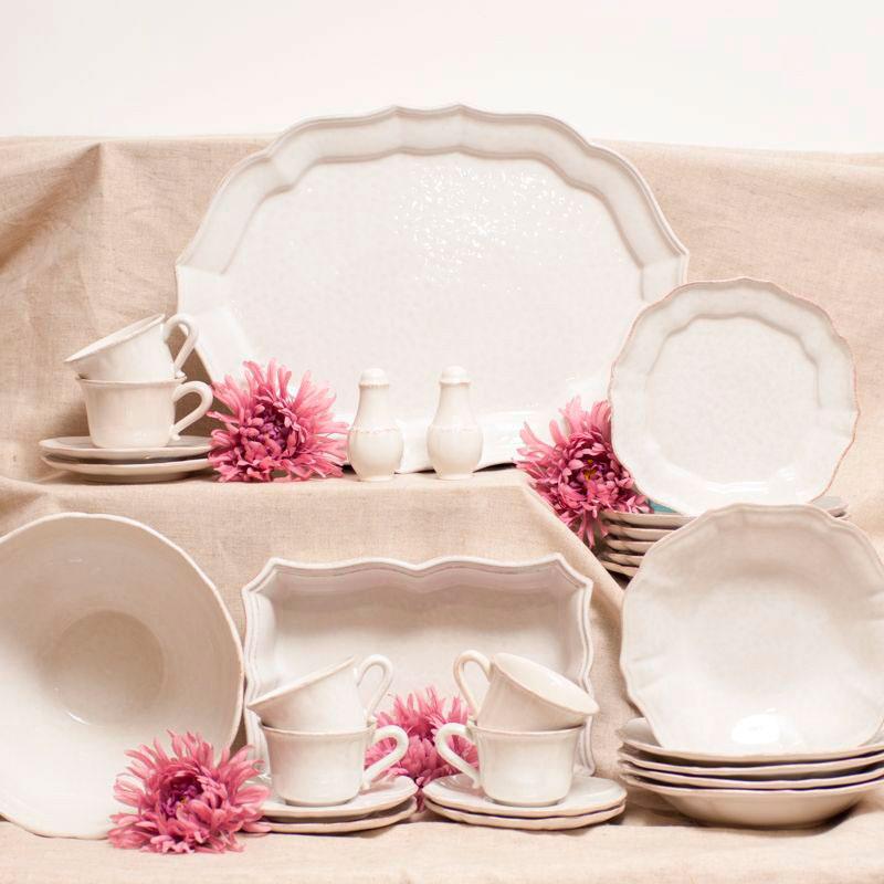 Набор мелких тарелок Costa Nova Impressions белого цвета на 6 персон