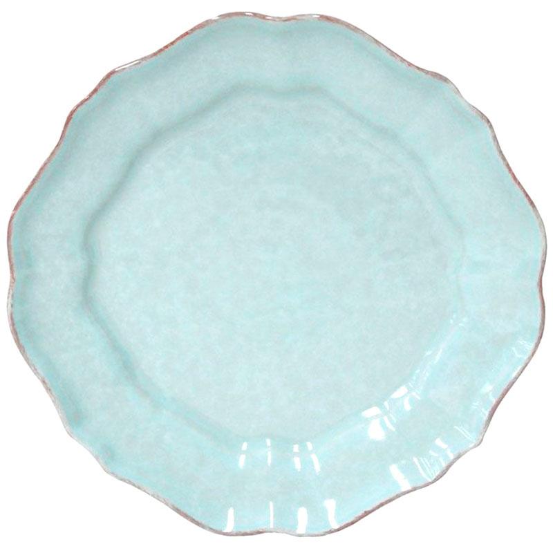 Набор обеденных тарелок Costa Nova Impressions на 6 персон бирюзового цвета