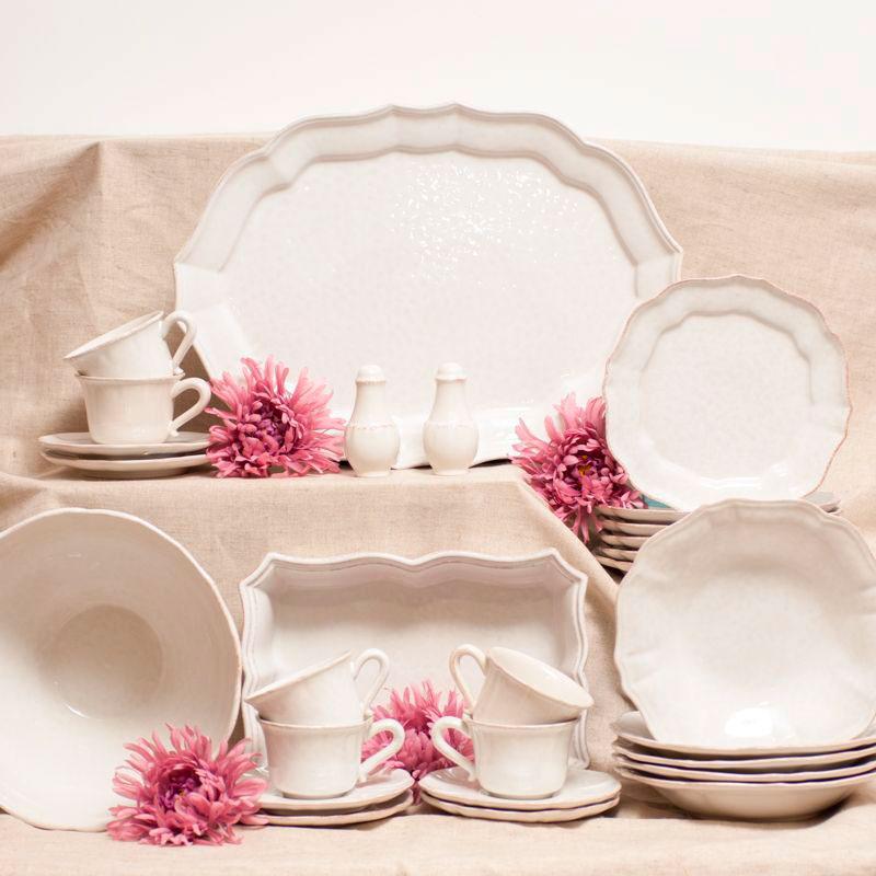 Набор тарелок для супа Costa Nova Impressions белого цвета на 6 персон