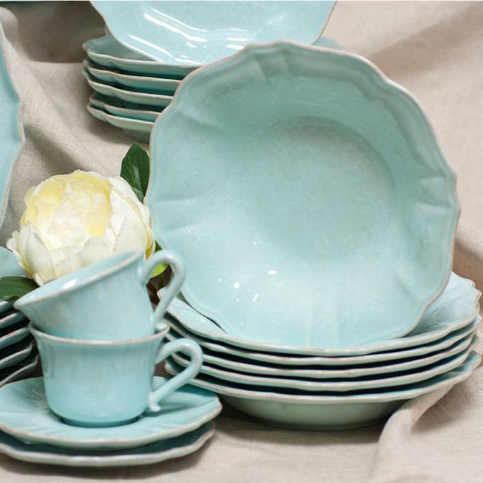 Тарелка для супа Costa Nova Impressions голубая 520мл