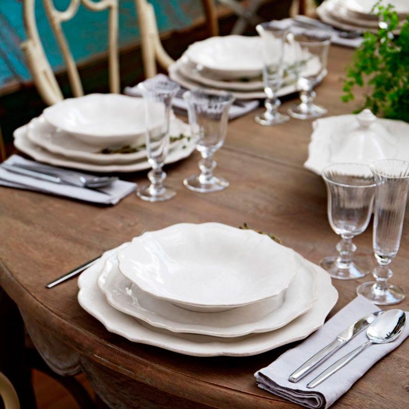 Набор обеденных тарелок Costa Nova Impressions белого цвета на 6 персон