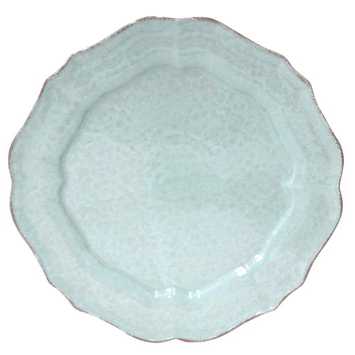 Тарелка обеденная Costa Nova Impressions голубая 30см