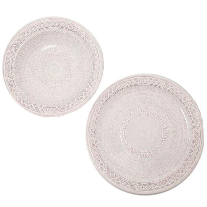 Набор из двух тарелок Mastercraft белого цвета