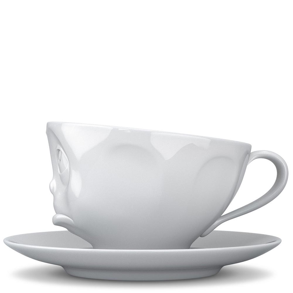 Чашка с блюдцем Tassen Oh Please белого цвета для эспрессо и макиато