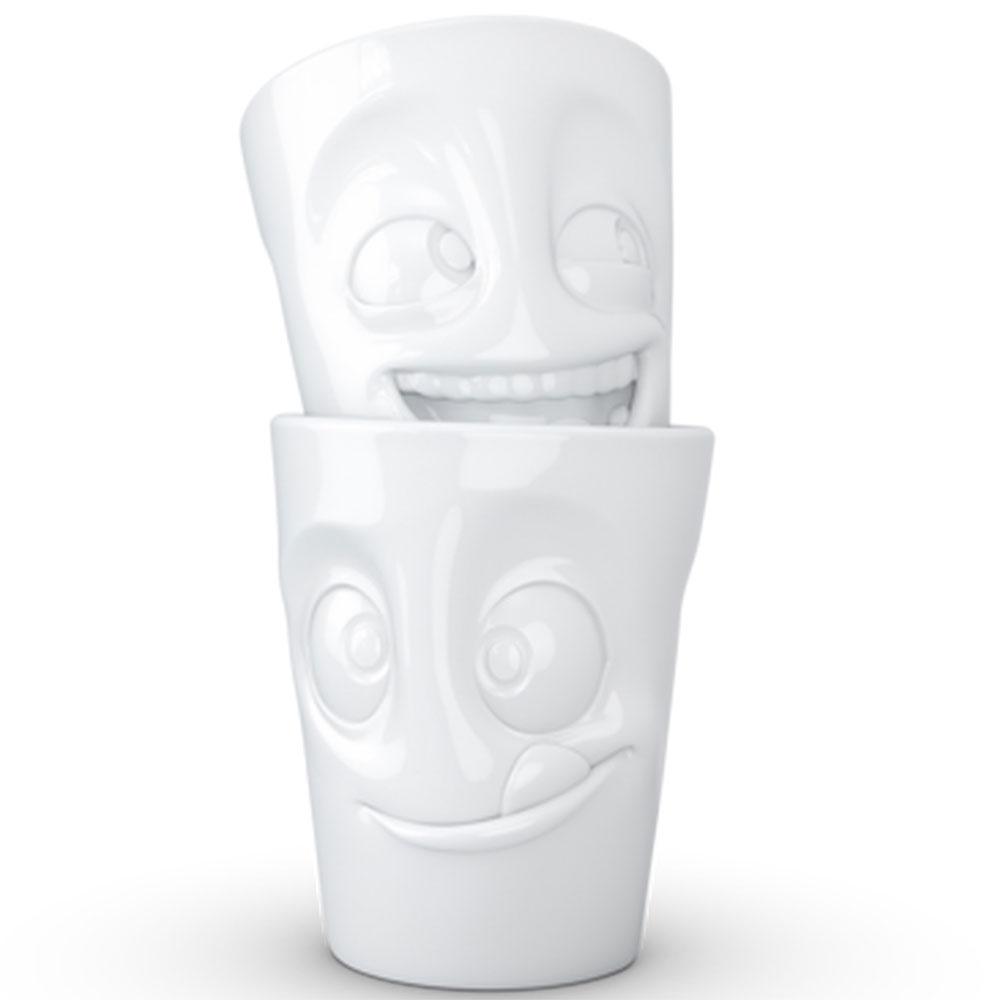 Набор чашек Tassen Joking&Tasty белого цвета из 2 штук