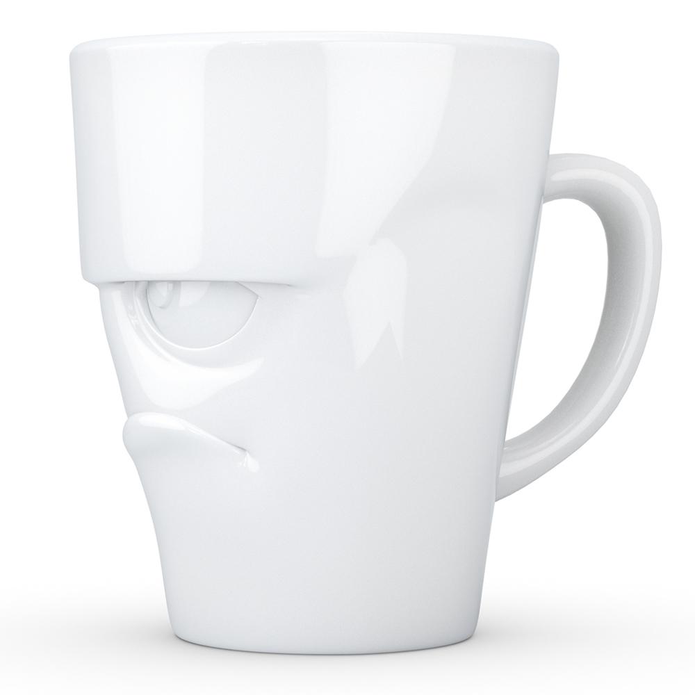 Чашка c ручкой Tassen Grumfy глянцевая белая