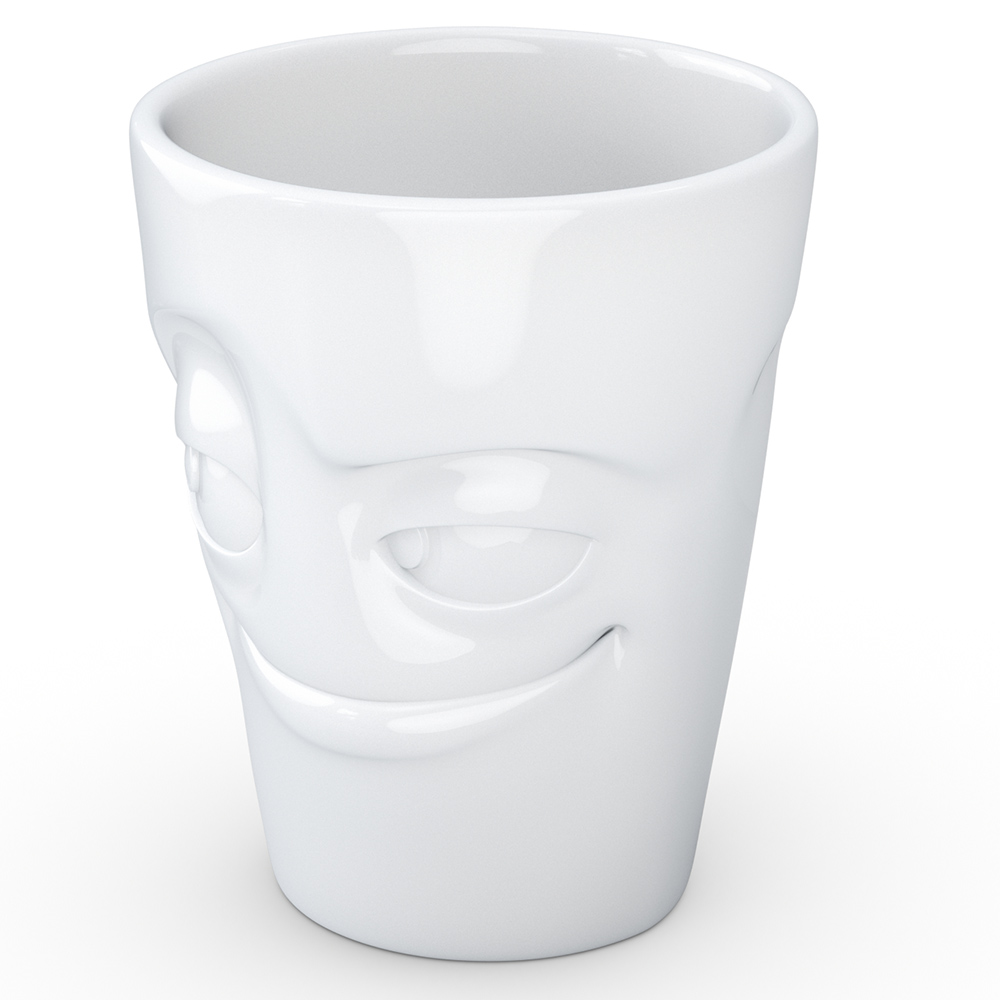 Чашка c ручкой Tassen Impish глянцевая белая