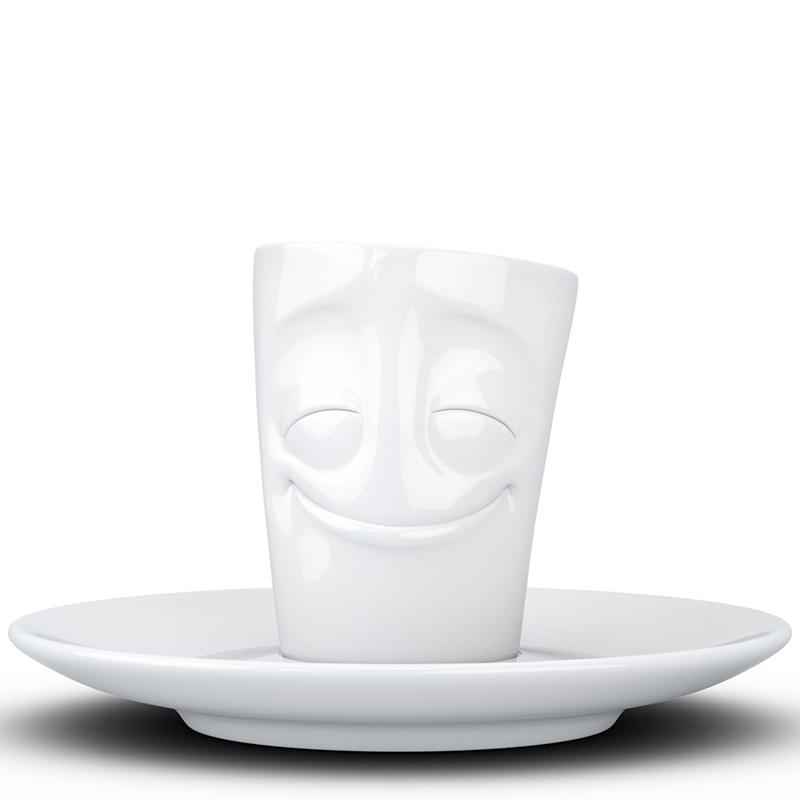 Чашка с блюдцем Tassen Cheery белого цвета