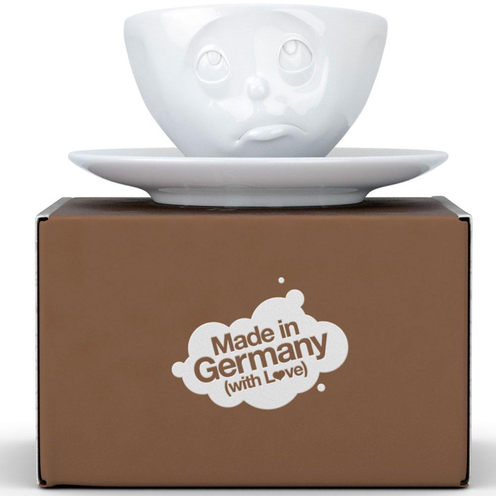 Фарфоровые чашка с блюдцем Tassen Please
