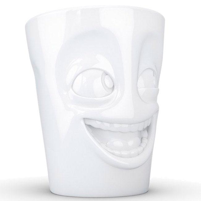 Фарфоровая чашка Tassen Joking белого цвета