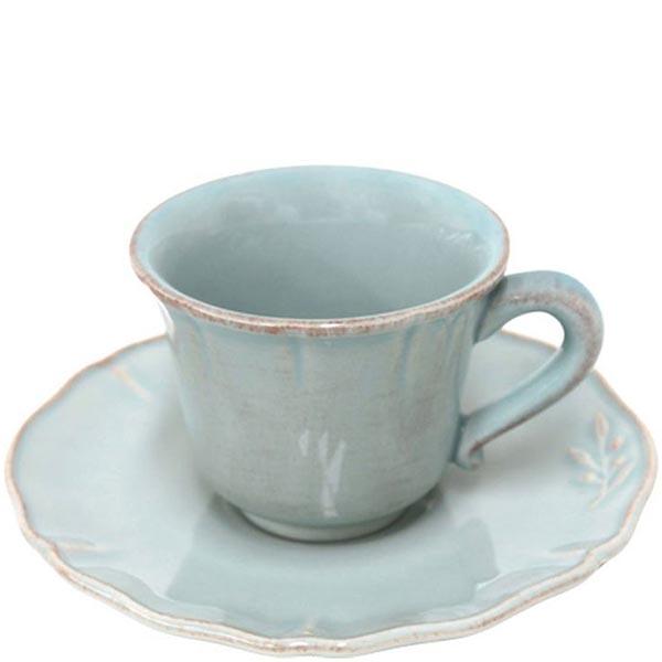 Набор из 6 кофейных чашек с блюдцами Costa Nova Alentejo голубого цвета