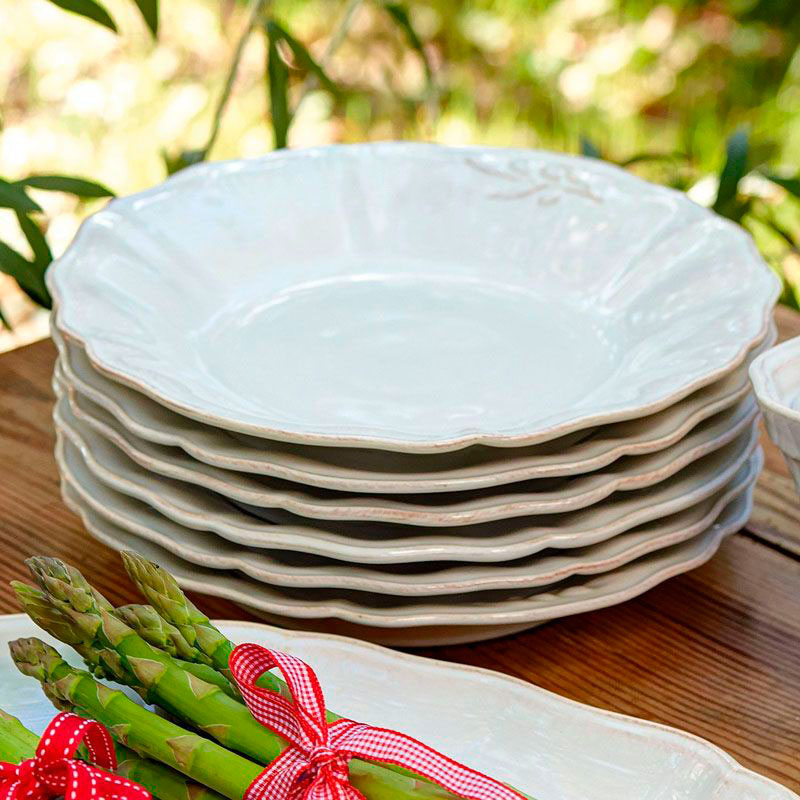 Набор суповых тарелок Costa Nova Alentejo белого цвета на 6 персон