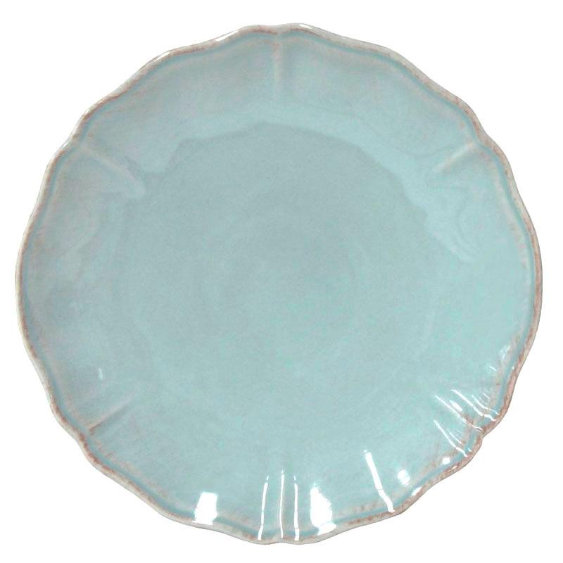 Набор из 6 обеденных тарелок Costa Nova Alentejo бирюзового цвета