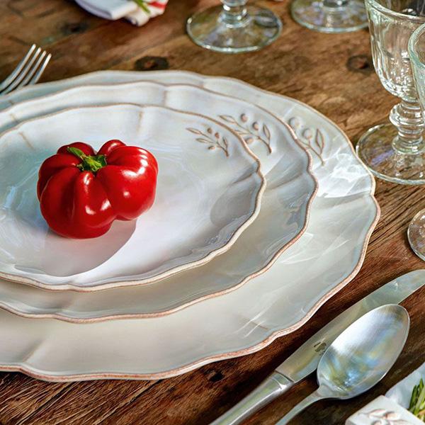 Набор из 6 тарелок Costa Nova Alentejo белого цвета 27см