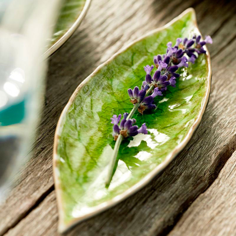 Блюдо Costa Nova Riviera Лавровый лист из керамики
