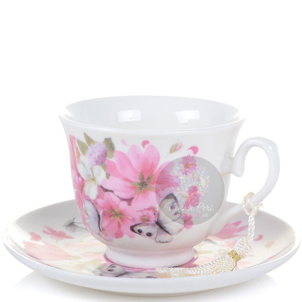 Чайная пара Розовые цветы