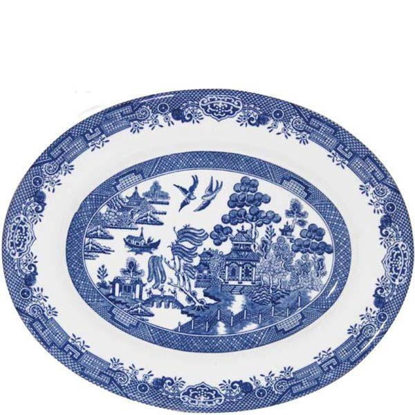 Блюдо овальное Churchill Blue Willow 31 см