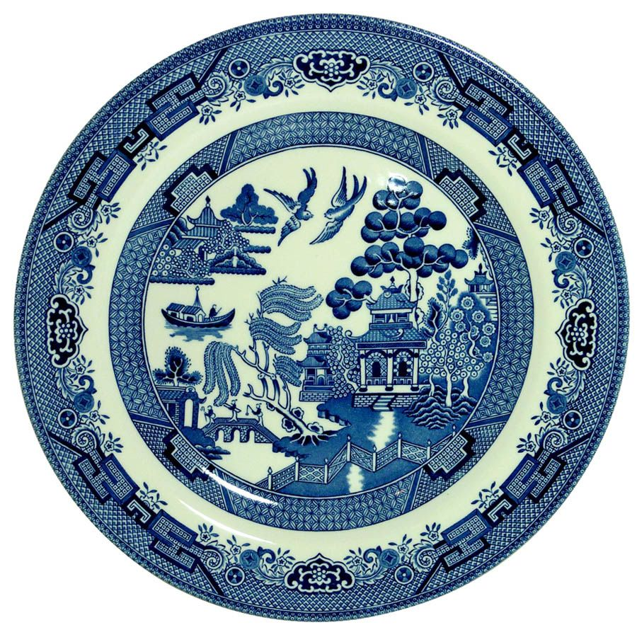 Тарелка Churchill Blue Willow 17 см