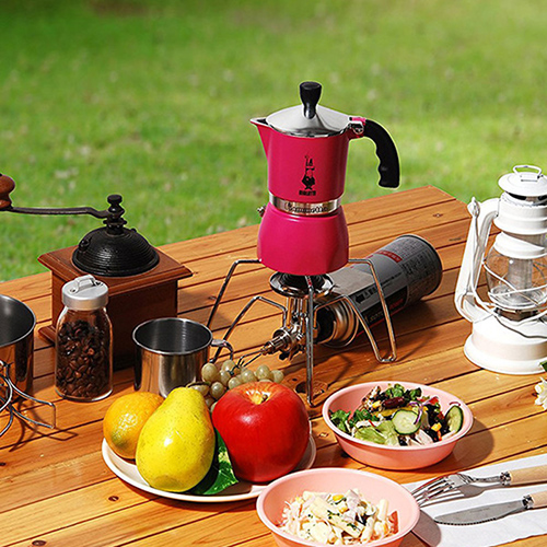 Кофеварка гейзерная Bialetti Fiammetta красная, фото