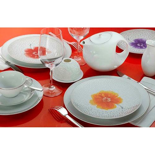 Набор из 4-х обеденных тарелок Bernardaud Top Peony, фото