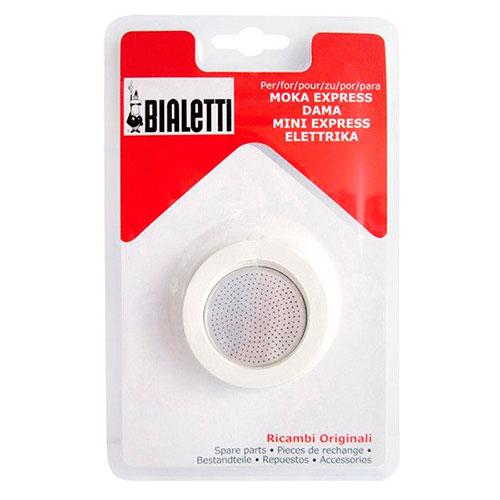 Набор 3 уплотнителя и сито для кофеварок Bialetti Spare Parts, фото