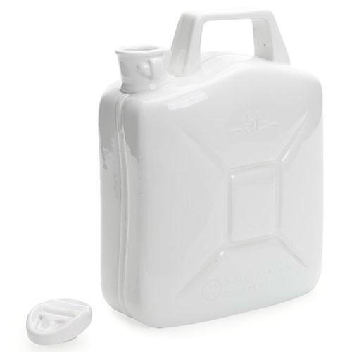 Фарфоровая канистра Seletti белого цвета, фото