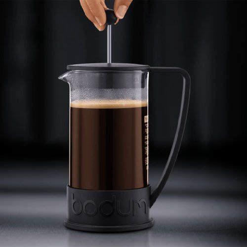 Кофейник Bodum Brazil френч-пресс черный 1л, фото