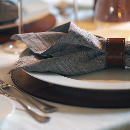Сервировочный коврик Balmuir Winston темно-коричневого цвета, фото
