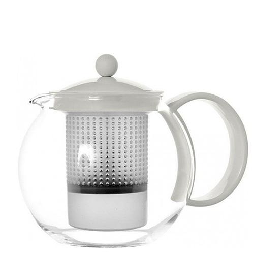 Заварочный чайник Bodum Assam белого цвета 1л, фото